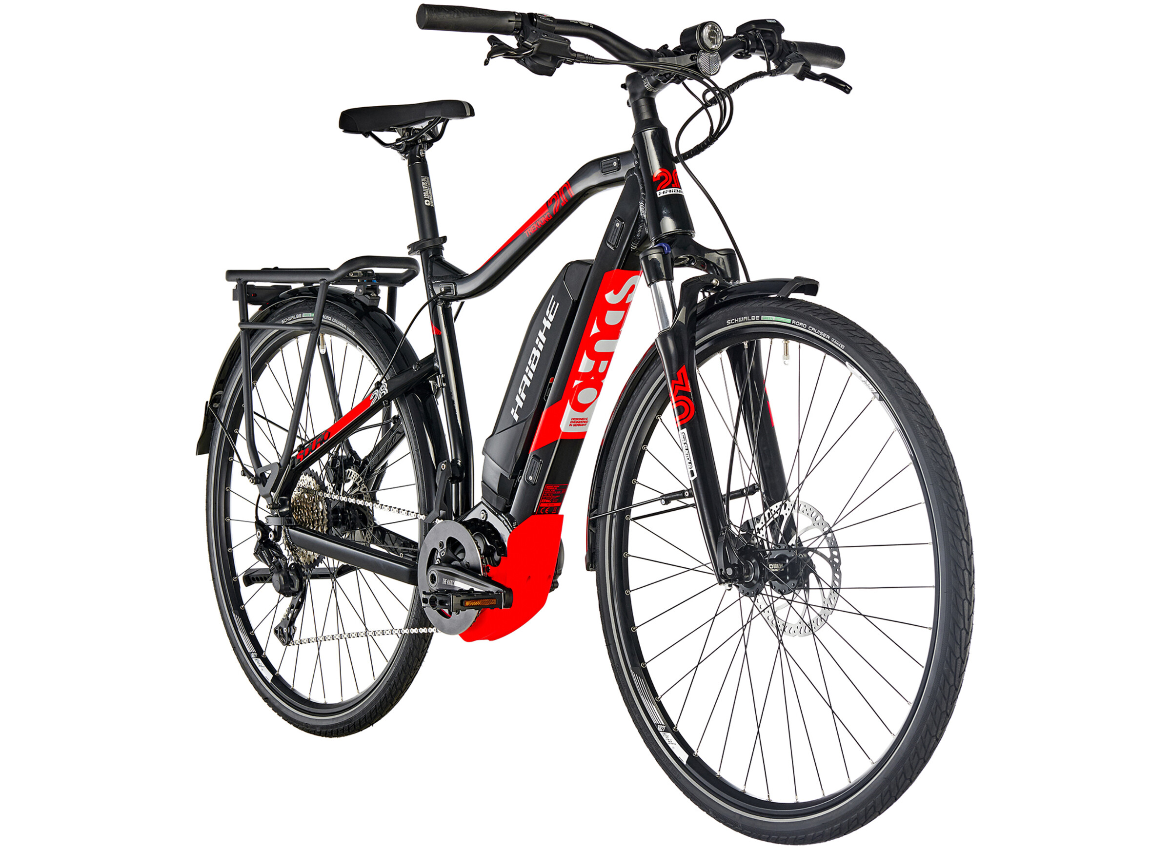 HAIBIKE SDURO Trekking 2 0 E-Trekking Bike red/black